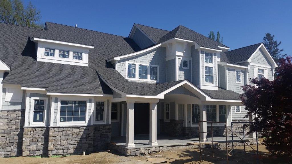 custom home built by prestige