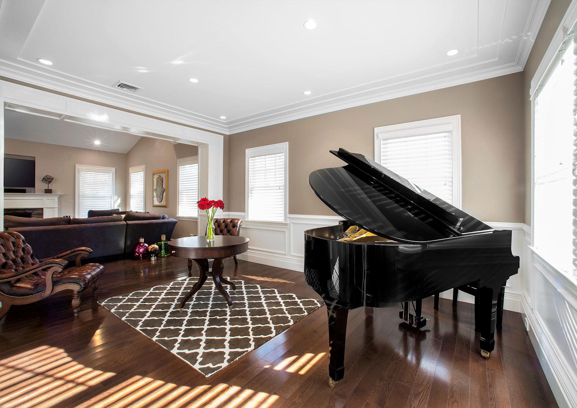 custom piano room