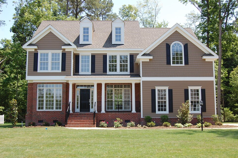big house with a large front yard