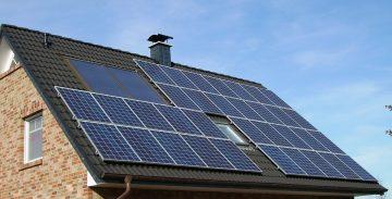 a solar panel house